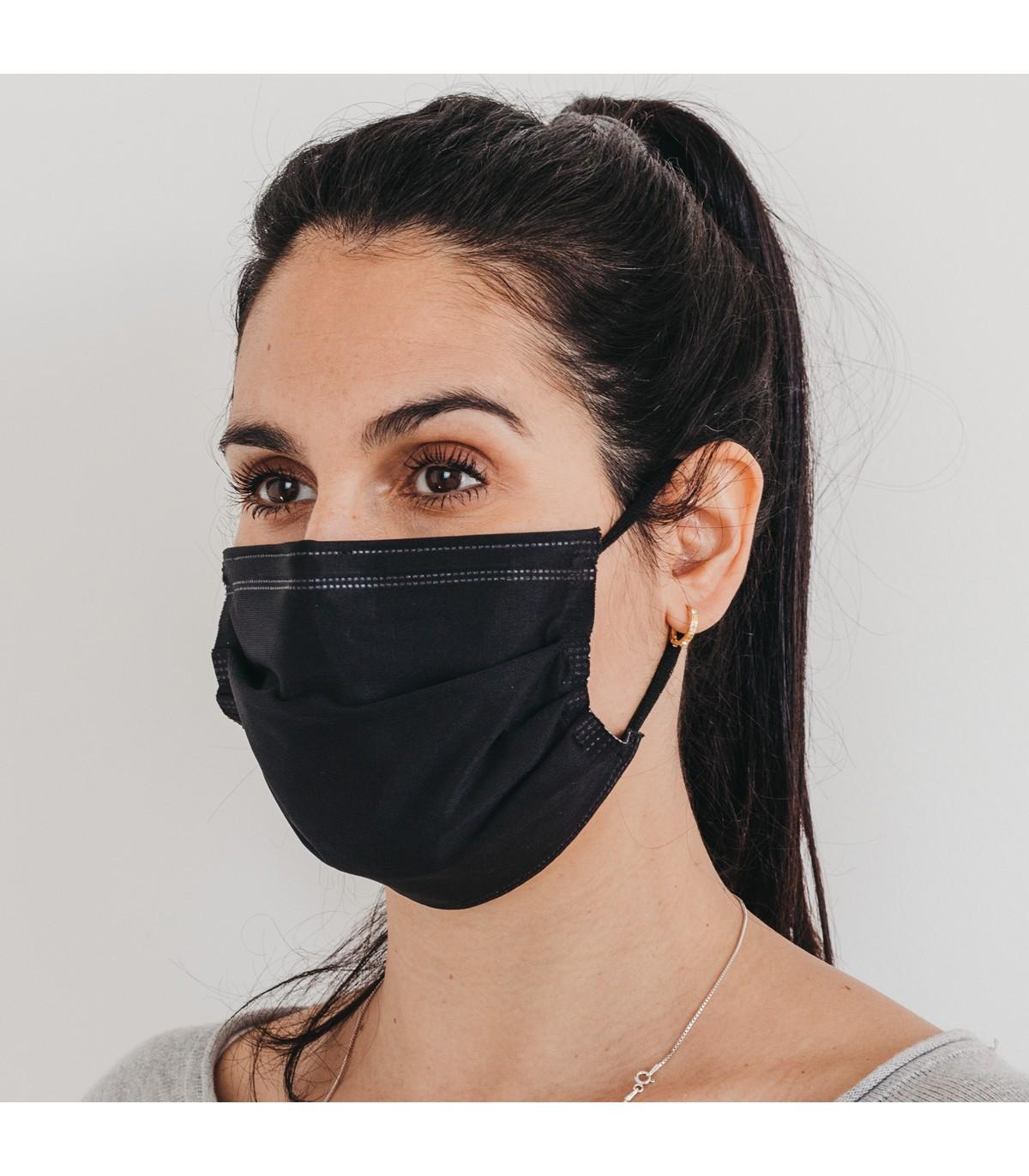 Mascarilla quirúrgica textil reutilizable - negra