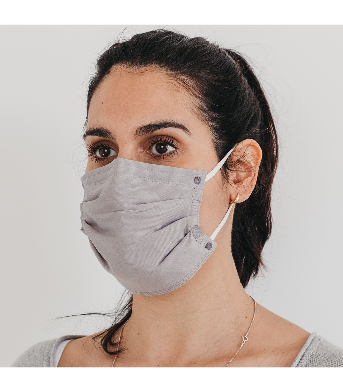 Mascarilla quirúrgica textil reutilizable - gris